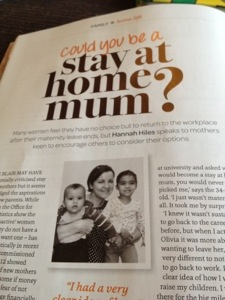 Stay-at-home mum feature chosen by Green Parent as one of its top 20 stories